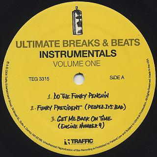 Ultimate Breaks & Beats / Instrumentals Vol.1 label