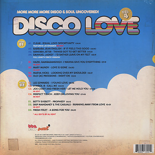 V.A.(Al Kent) / Disco Love Vol.4 -More More More Disco & Soul Uncovered- back
