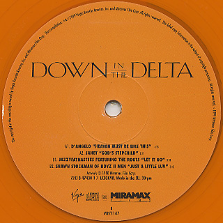 V.A. / Down In The Delta Sampler EP label