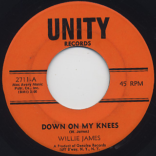 Willie James / Down On My Knees