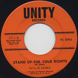 Willie James / Down On My Knees back
