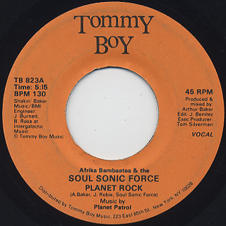 Afrika Bambaataa & The Soul Sonic Force / Planet Rock front