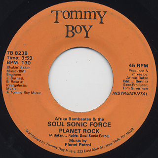 Afrika Bambaataa & The Soul Sonic Force / Planet Rock back