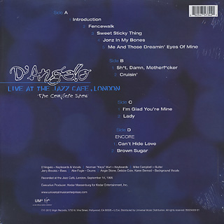 D'Angelo / Live At The Jazz Cafe, London back