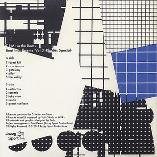 DJ Mitsu The Beats / Beat Instrumentals Vol.3 -Rhodes Special- back