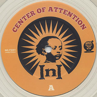 INI / Center Of Attention (2LP / Unofficial Re) label