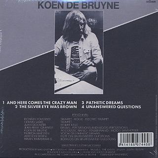 Koen De Bruyne / Here Comes The Crazy Man! back
