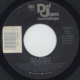 L.L. Cool J / Big Ole Butt c/w One Shot At Love back