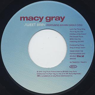 Macy Gray / Sweet Baby label