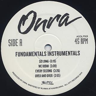 Onra / Fundamentals Instrumentals back