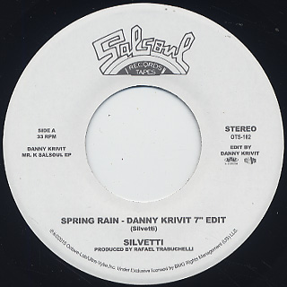 Silvetti / Spring Rain -Danny Krivit 7