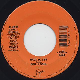 Soul II Soul / Back To Life (7