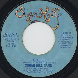 Sugar Hill Gang / Apache c/w Rapper's Delight