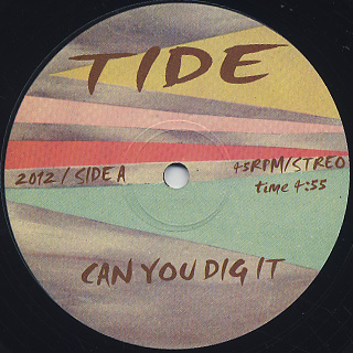 V.A.(Tide) / Can You Dig It c/w Disco Foxx
