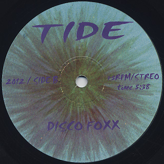 V.A.(Tide) / Can You Dig It c/w Disco Foxx back