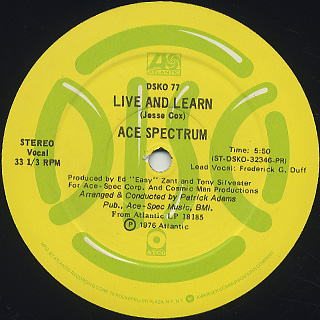 Ace Spectrum / Live And Learn (12