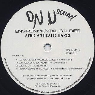 African Head Charge / Environmental Studies label