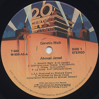 Ahmad Jamal / Genetic Walk label