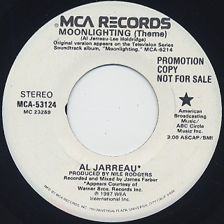 Al Jarreau / Moonlighting(Theme) front