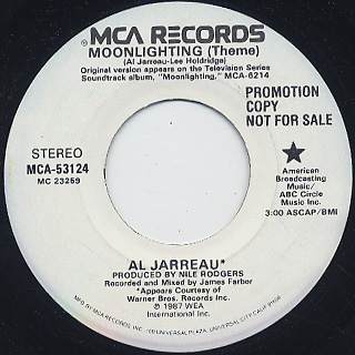 Al Jarreau / Moonlighting(Theme) back