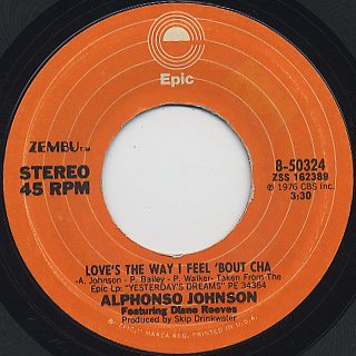 Alphonso Johnson / Love's The Way I Feel 'Bout Cha