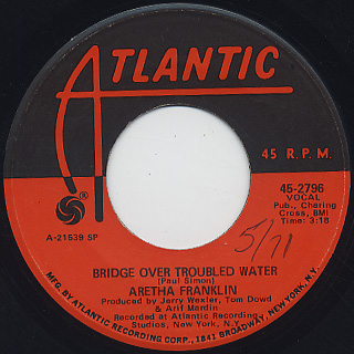 Aretha Franklin / Bridge Over Troubled Water c/w Brand New Me