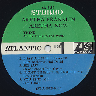 Aretha Franklin / Now label