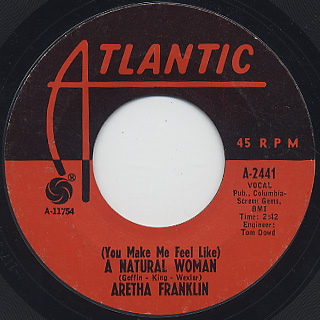 Aretha Franklin / (You Make Me Feel Like) A Natural Woman front