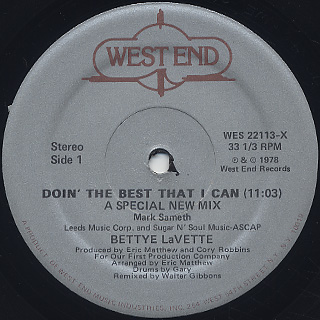 Bettye LaVette / Doin' The Best That I Can