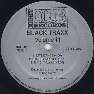 Black Traxx / Volume III back