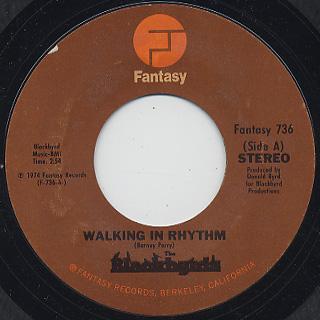 Blackbyrds / Walking In Rhythm c/w The Baby