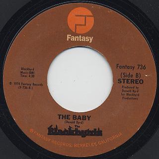 Blackbyrds / Walking In Rhythm c/w The Baby back