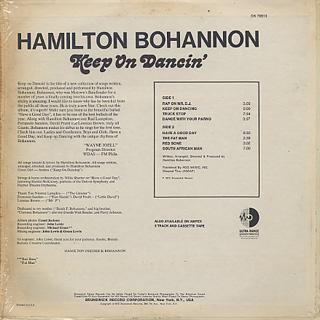 Bohannon / Keep On Dancin' back