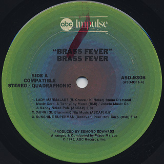 Brass Fever / S.T. label