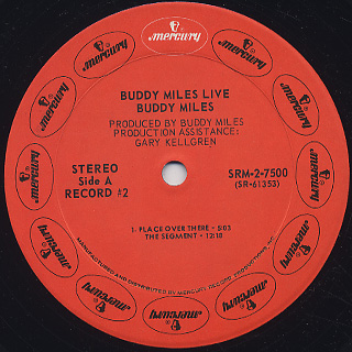 Buddy Miles / Buddy Miles Live label
