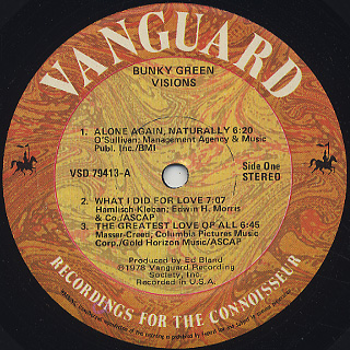 Bunky Green / Visions label