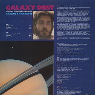 Carlos Franzetti / Galaxy Dust back