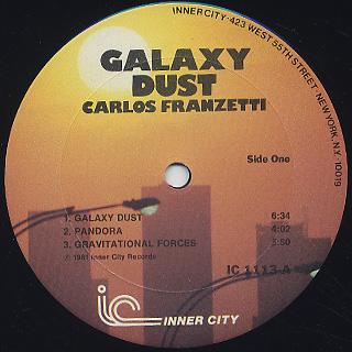 Carlos Franzetti / Galaxy Dust label