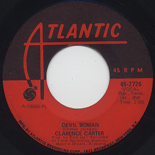 Clarence Carter / Devil Woman c/w I Can't Leave Your Love Alone