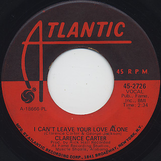 Clarence Carter / Devil Woman c/w I Can't Leave Your Love Alone back