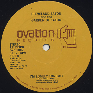 Cleveland Eaton and The Garden Of Eaton / Get Off back
