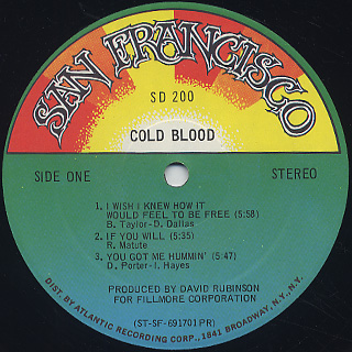 Cold Blood / S.T. label