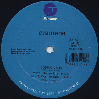 Cybotron / Cosmic Cars front