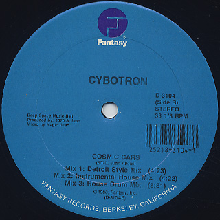 Cybotron / Cosmic Cars back