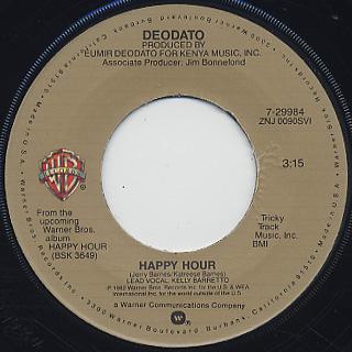 Deodato / Happy Hour c/w Sweet Music back