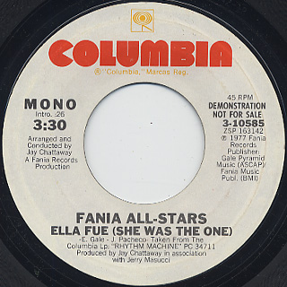 Fania All Stars / Ella Fue (She Was The One) back