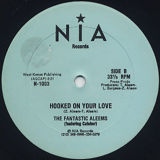 Fantastic Aleems / Hooked On Your Love back