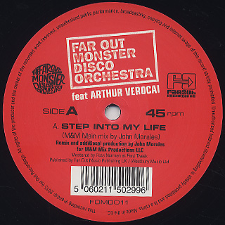 Far Out Monster Disco Orchestra / Step Into My Life (John Morales Remix) label