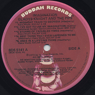 Gladys Knight & The Pips / Imagination label
