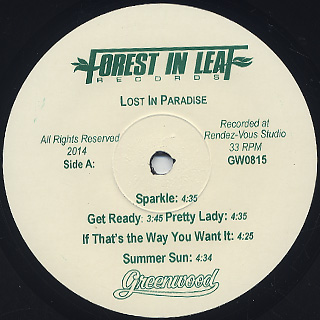 Greenwood / Lost In Paradise label